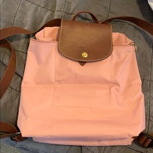 Longchamp Le Pliage backpack in blush